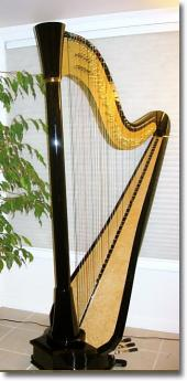 Alys Howe plays two different kinds of harp: the pedal harp, and the